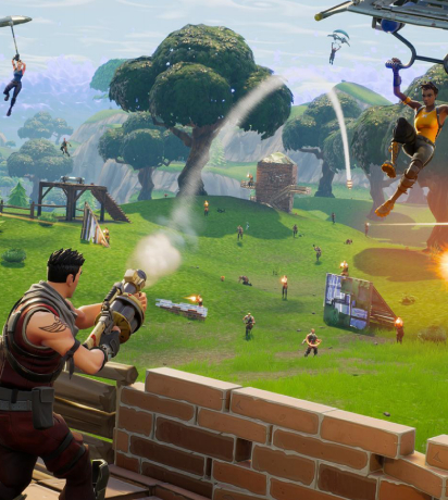 An image showing fighting spot - Game of Fortnite.