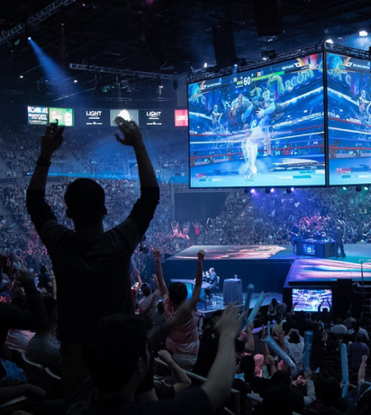 Image Represents the crowd of audience enjoying the global gaming event.